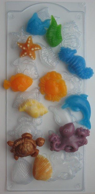 Морское ассорти пластиковая форма – купить в rai-milovara.ru по цене 180 руб.